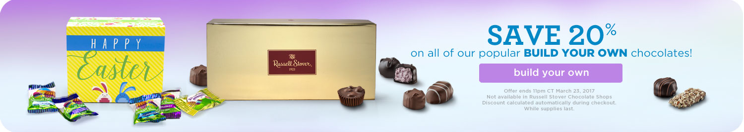 Save 20% on our popular Build Your Own Chocolates for Easter!