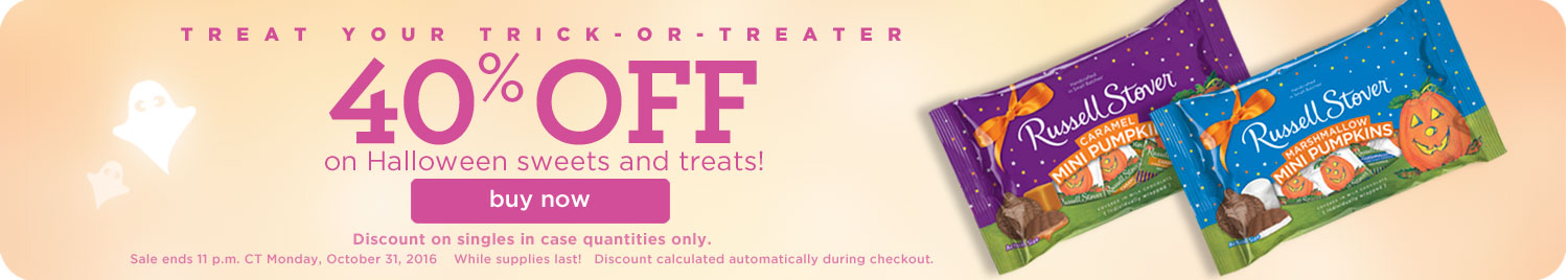 40% OFF Halloween Sweets and Treats!