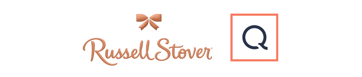 Russell Stover and QVC logos