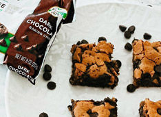 picture of Sugar Free Dark Chocolate Gooey Cookie Bars