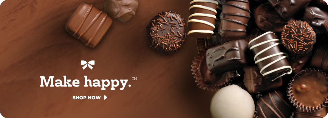 Chocolate Collections. Make Happy TM. Shop Now