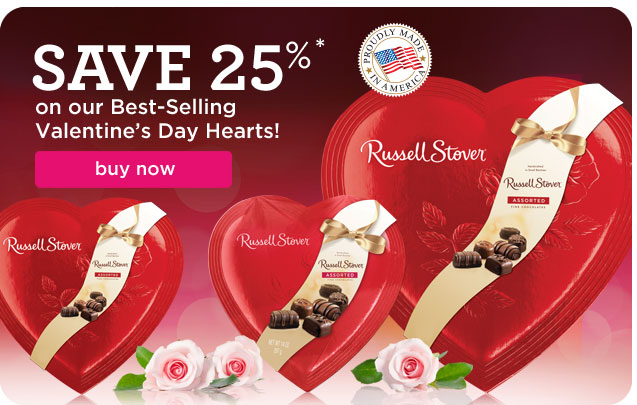 Save 25% on our Best-Selling Valentine's Day Hearts!