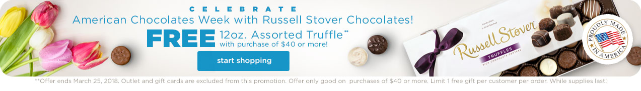 Free 12oz. Assorted Truffle with purchase of $40 or more.