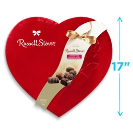 Assorted Chocolates Red Foil Heart, 34 oz