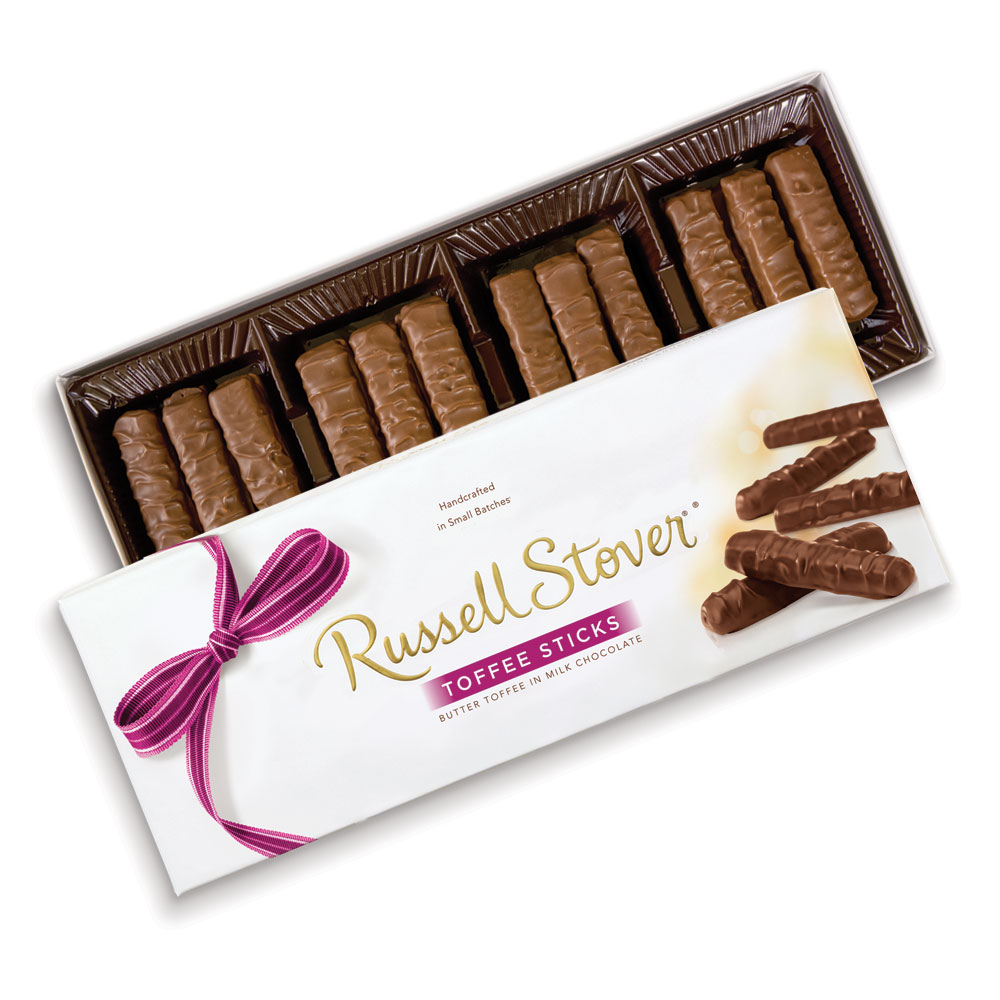 Image for Milk Chocolate Toffee Sticks, 10.5 oz. Box from RussellStover