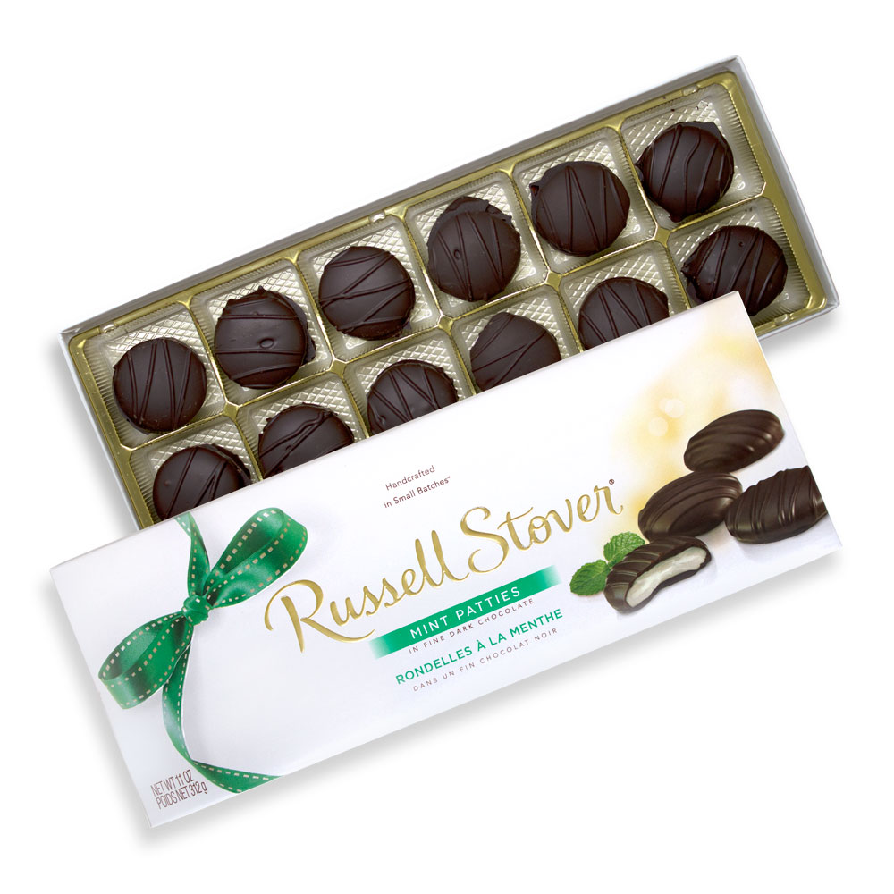 Image for Dark Chocolate Mint Patties, 11 oz. Box from Russell Stover