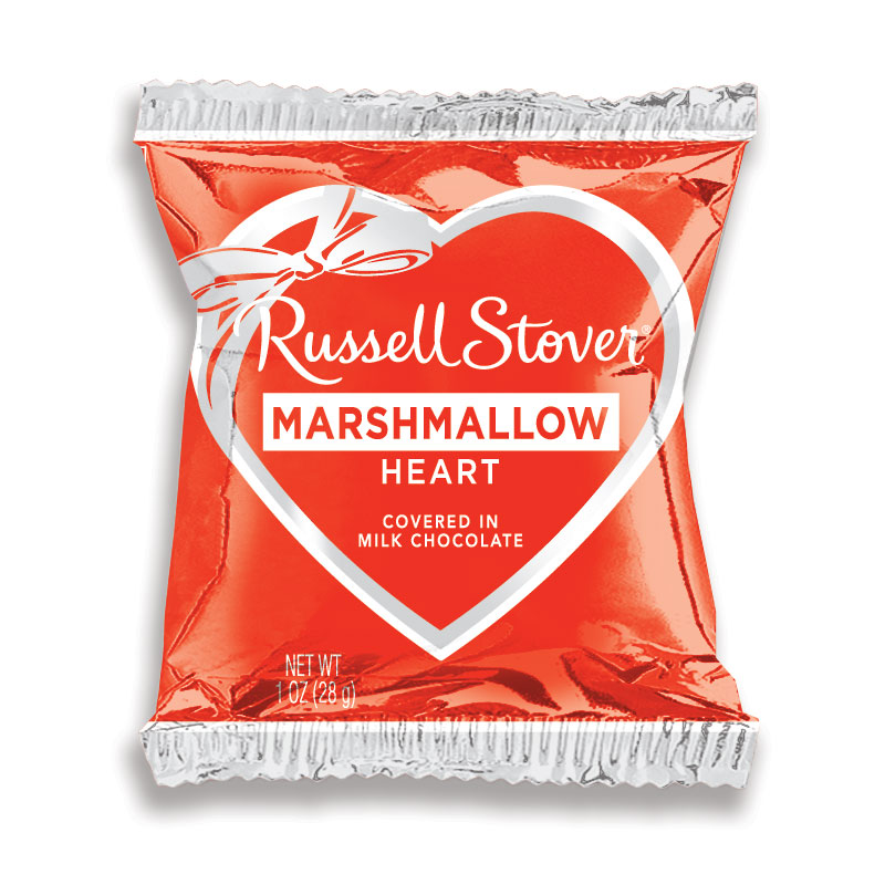Image for Milk Chocolate Vanilla Marshmallow Heart Bar, 1 oz. from Russell Stover