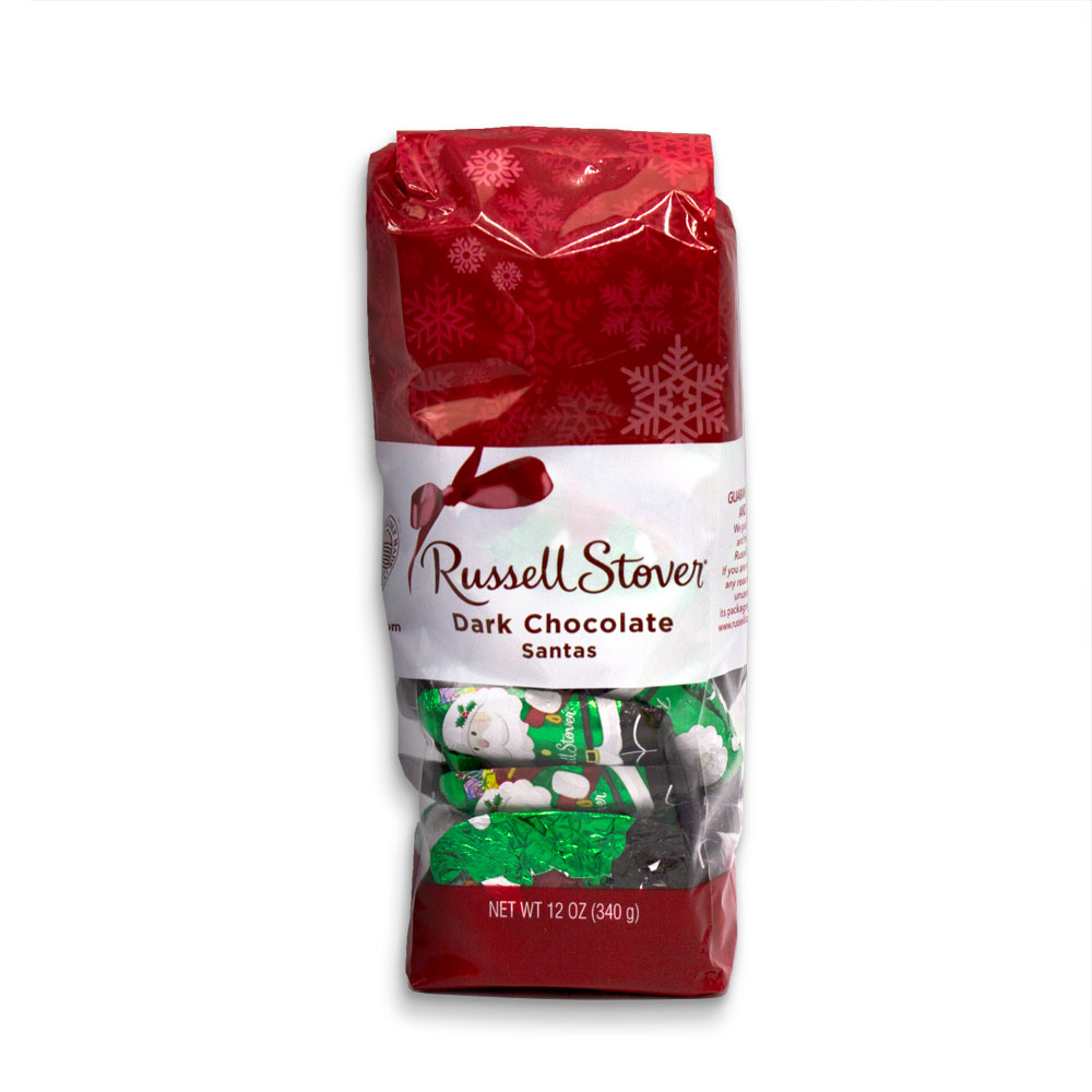 Image for Dark Chocolate Foil Santas, 12 oz. Bag from Russell Stover