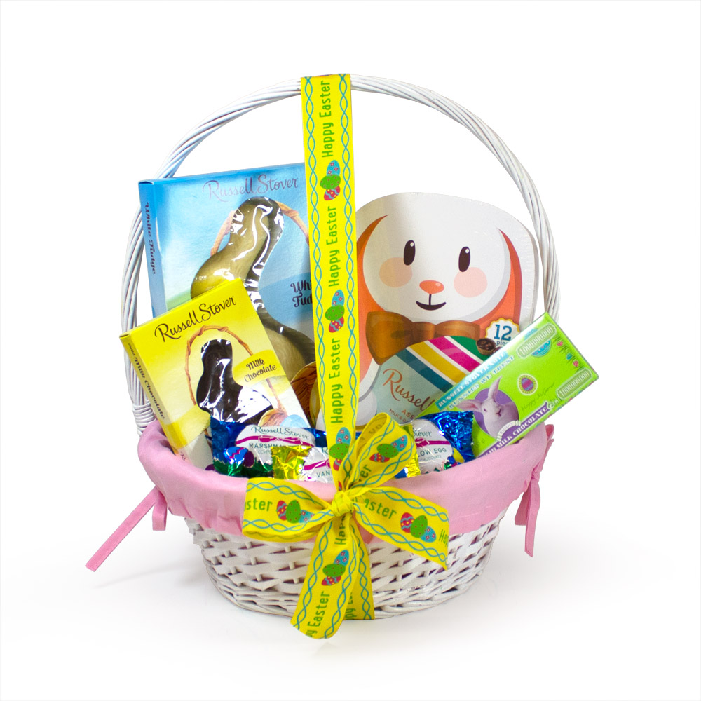 Image for Bunny Bliss Gift Basket (Pink) 50% OFF – Discount applied in cart from Russell Stover