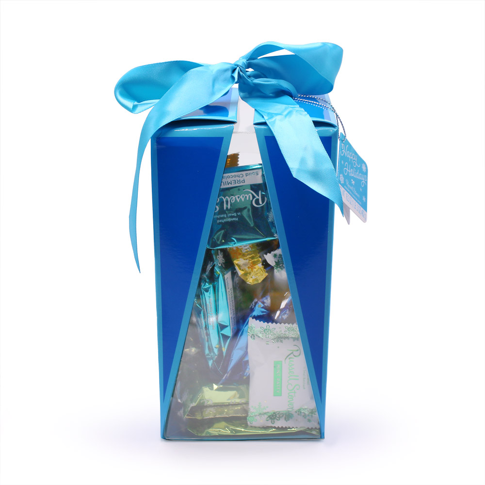 Image for Holiday Bow Gift Box - Blue,16.3 Oz. from Russell Stover