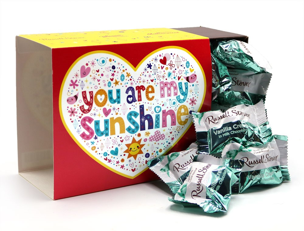 Image for You Are My Sunshine with Milk Chocolate Vanilla Creams, 1 lb. from Russell Stover