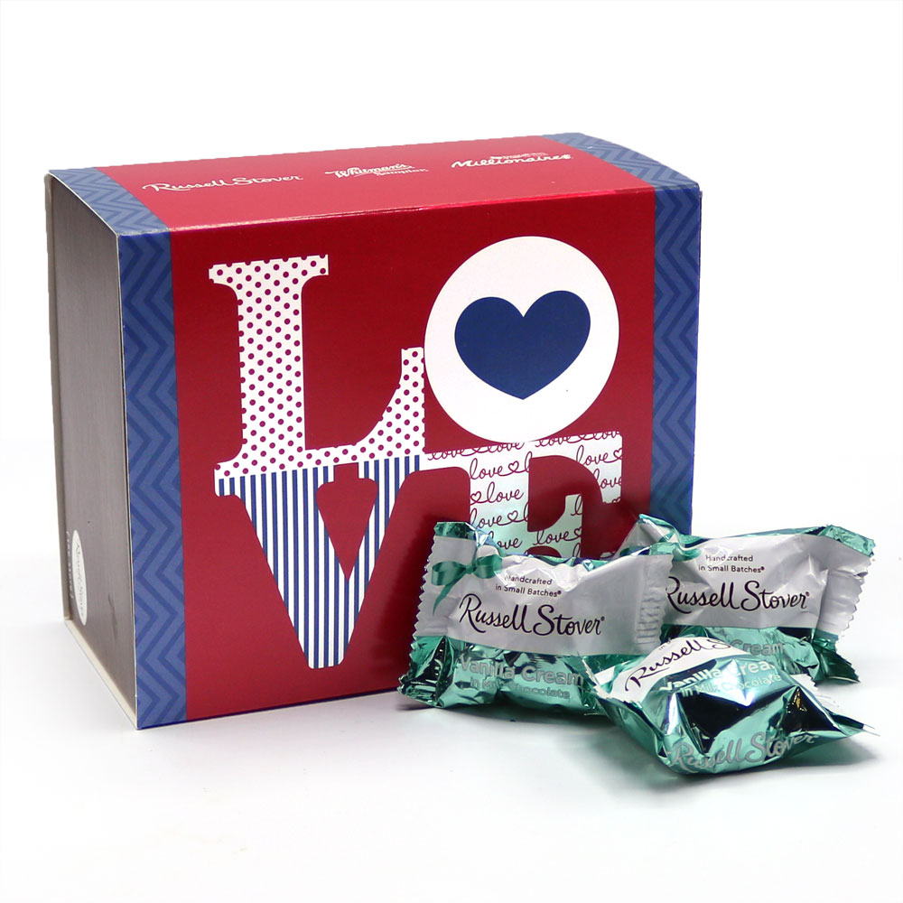 Image for Love Gift Box with Milk Chocolate Vanilla Creams, 1 lb. from Russell Stover