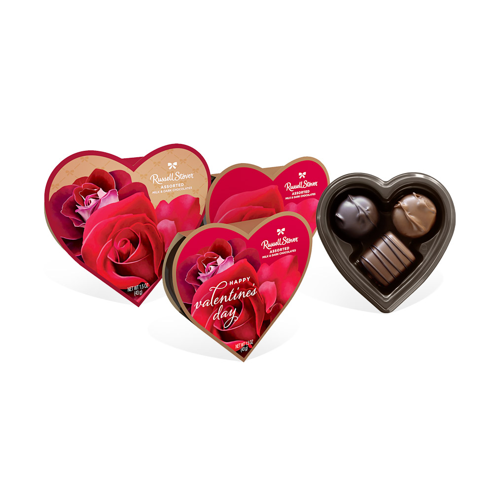Image for Assorted Chocolates Photo Rose Heart, 1.5 oz. from Russell Stover