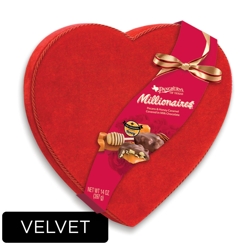 Image for Millionaires Red Velvet Heart, 14 oz.- 50% OFF Discount Applied in Cart from Russell Stover