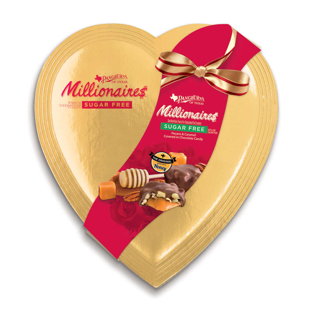 Image for Sugar Free Millionaires Heart, 7 oz. from Russell Stover