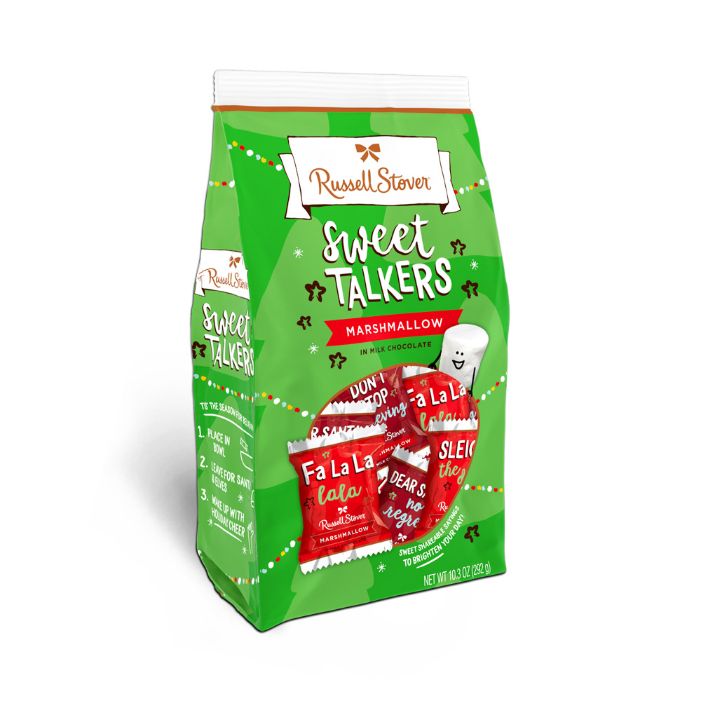 Image for Milk Chocolate Marshmallow Holiday Sweet Talkers Stand Up Box, 10.3 oz. from Russell Stover