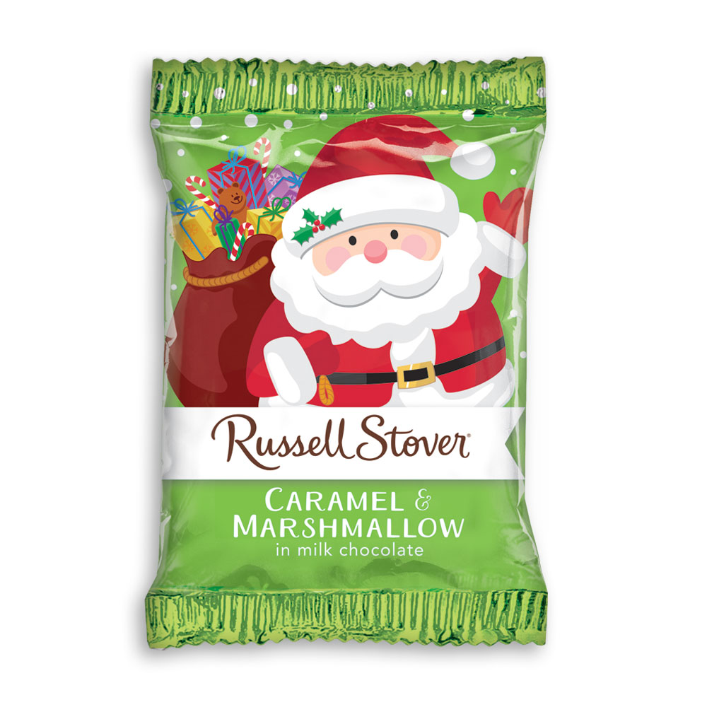 Image for Milk Chocolate Marshmallow Caramel Santa,  1 oz. bar from Russell Stover