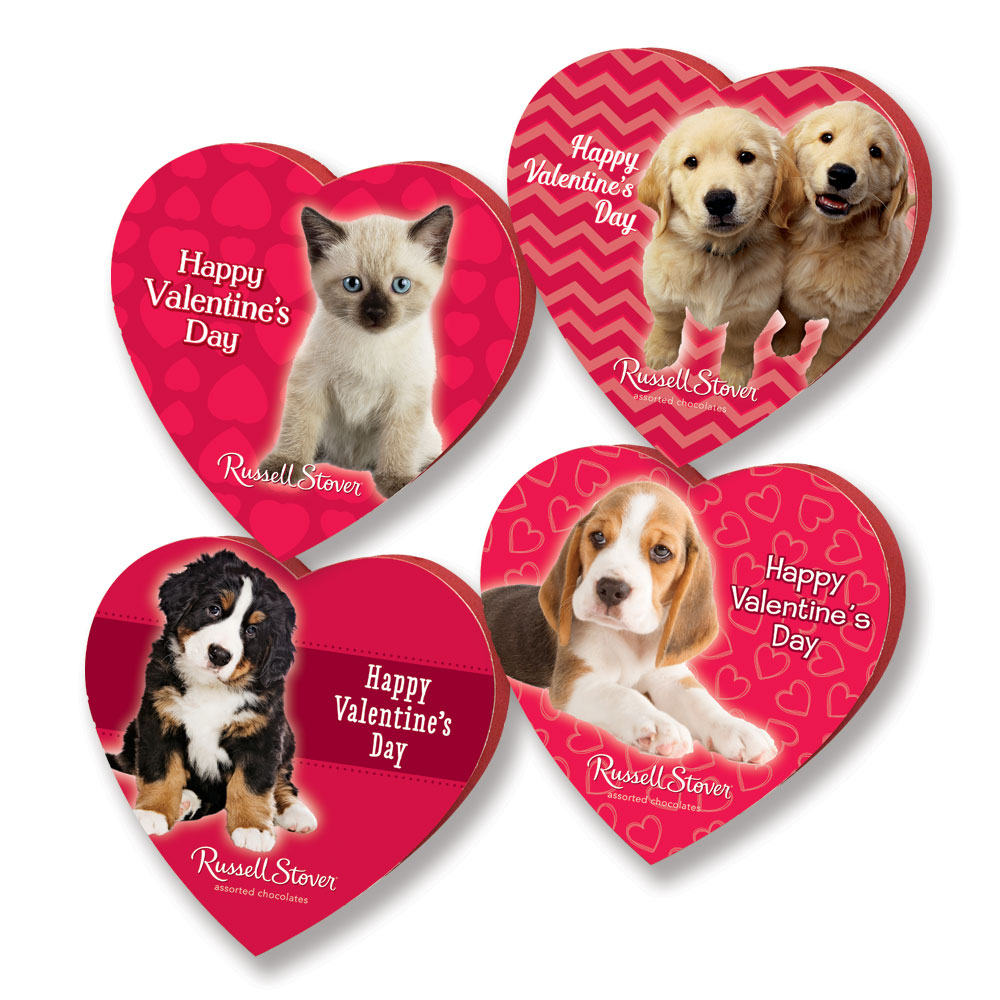 Image for Assorted Chocolates Animal Friends Heart, 1.75 oz. from Russell Stover