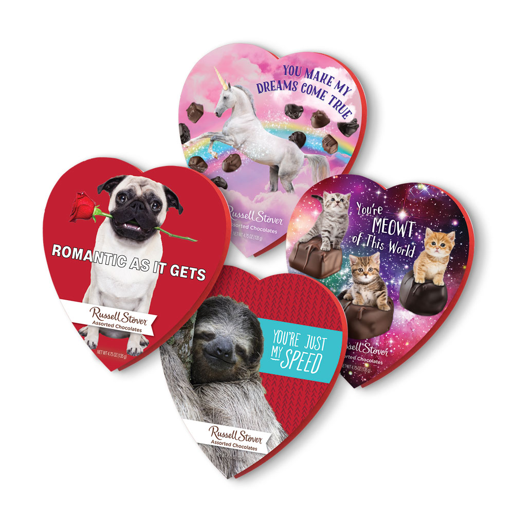Image for Assorted Chocolates Romantic Humor Memes Heart, 4.75 oz. Box from Russell Stover