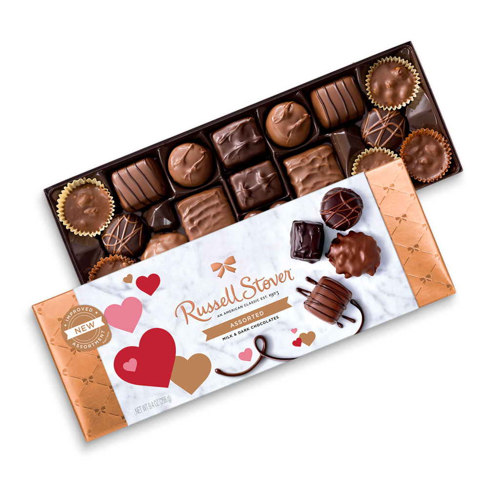 Image for Assorted Chocolates Valentine Bowline Box, 9.4 oz. from Russell Stover