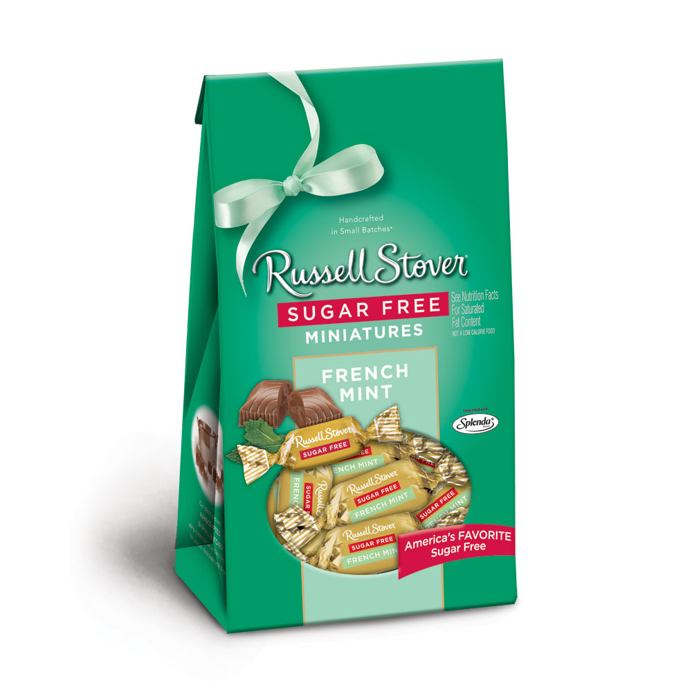 Image for Sugar Free French Mint Miniatures, 6 oz. Bag from Russell Stover Chocolates