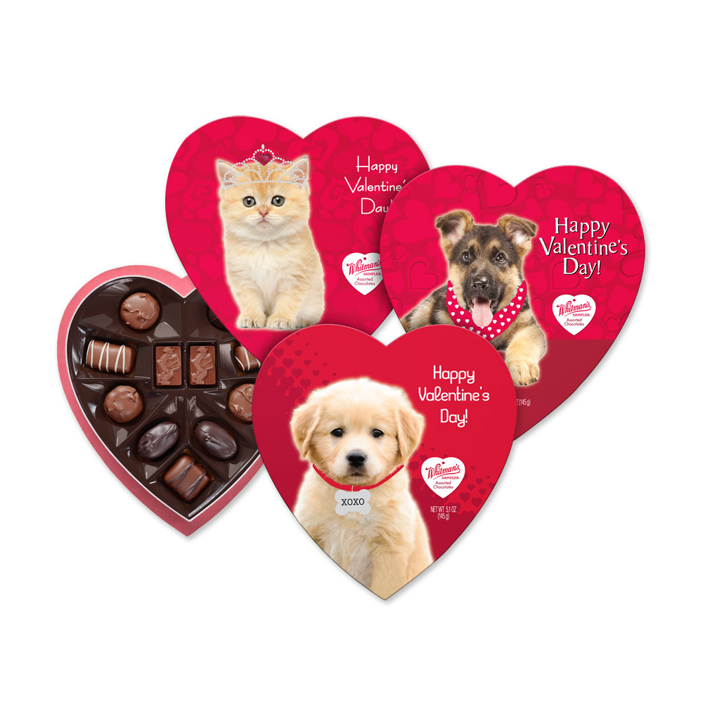 Image for Whitman's Assorted Chocolates Pet Fancy Heart, 5.1 oz. from Russell Stover