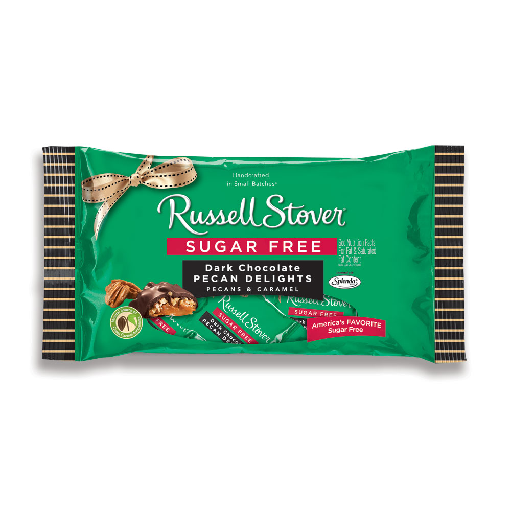 Image for Sugar Free Dark Chocolate Pecan Delight, 10 oz. Bag from RussellStover