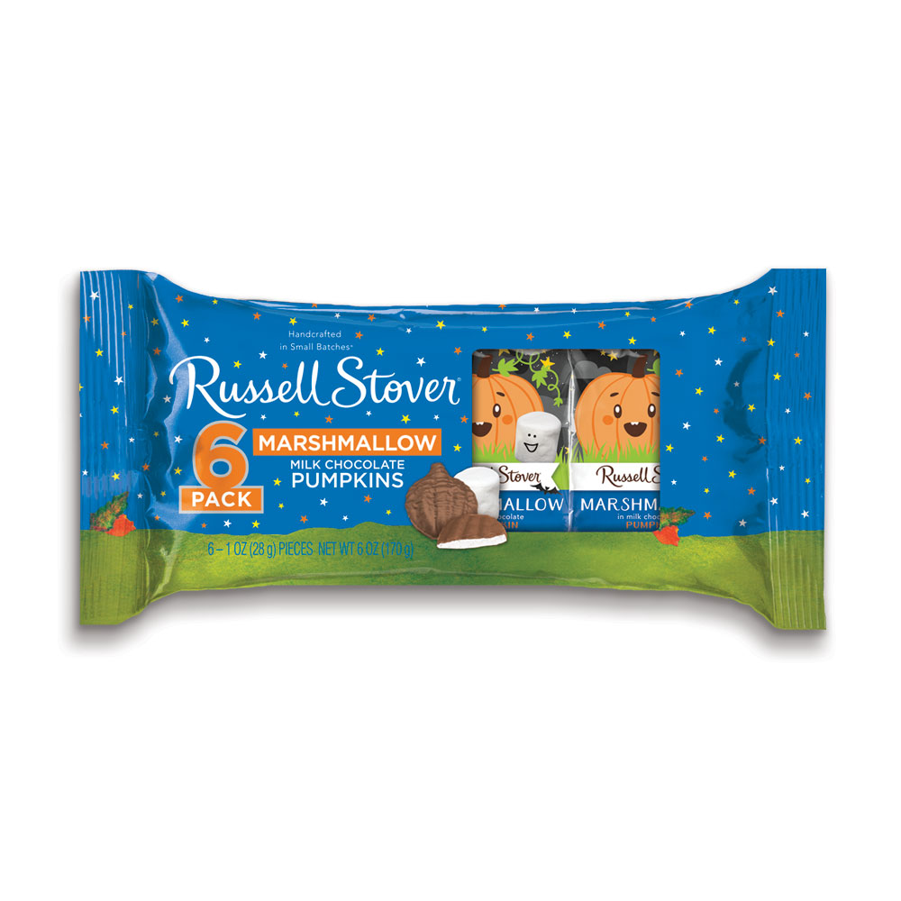 Image for Marshmallow Pumpkins 6-Pack, 1 oz. Bars from RussellStover