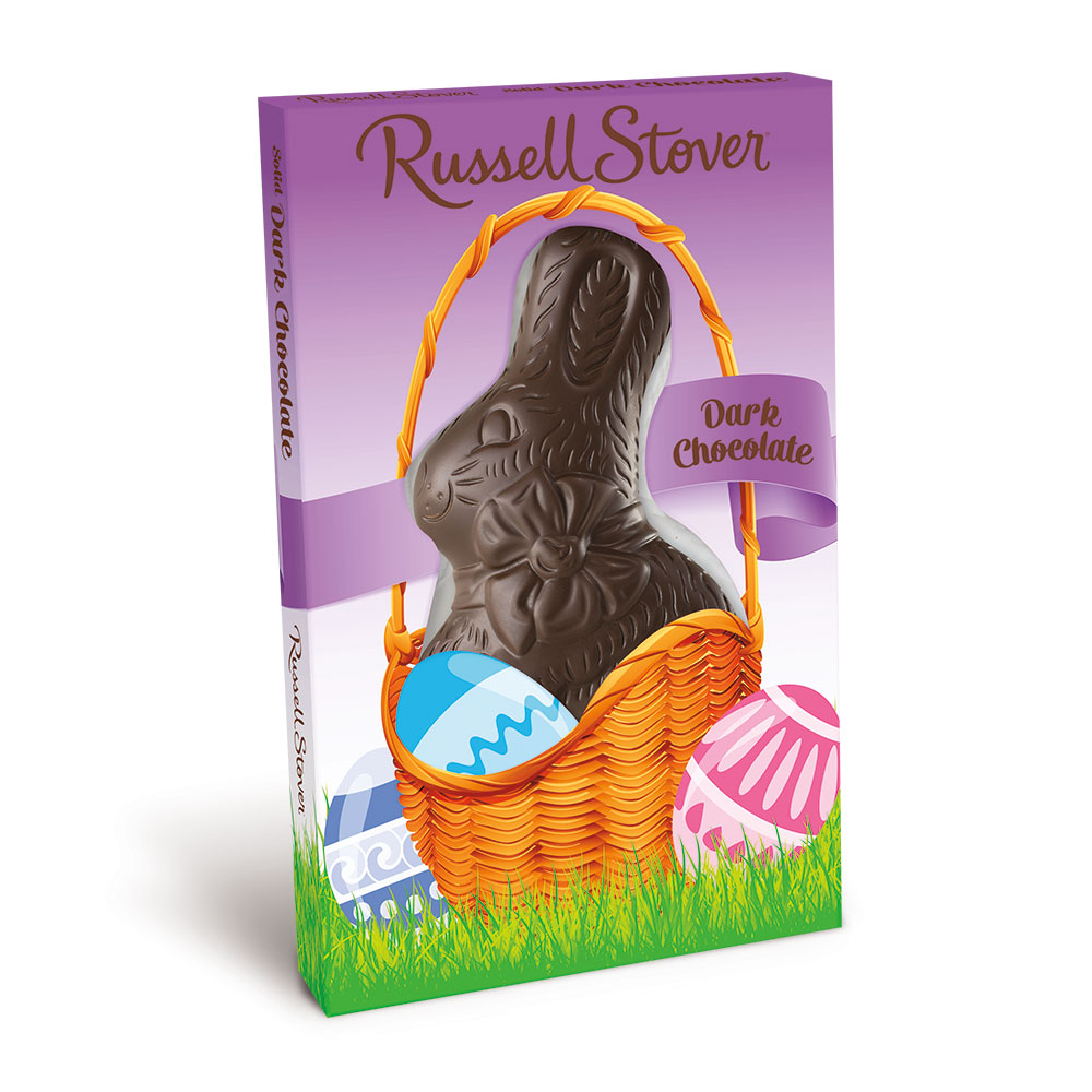 Image for Dark Chocolate Flatback Rabbit, 3 oz. from Russell Stover