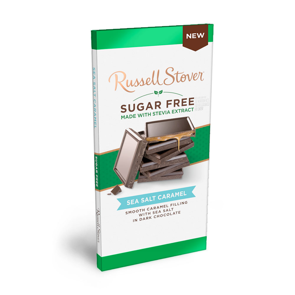 Image for Sugar Free Dark chocolate Sea Salt Caramel, 3 oz. bar from Russell Stover