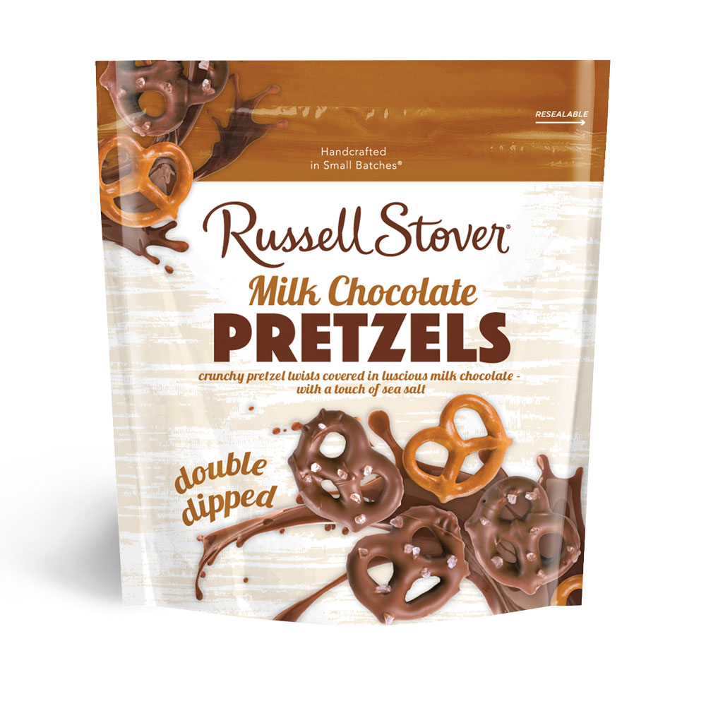 Image for Double Dipped Pretzels Covered In Coarse Sea Salt, 5.5 oz. Bag from Russell Stover Chocolates