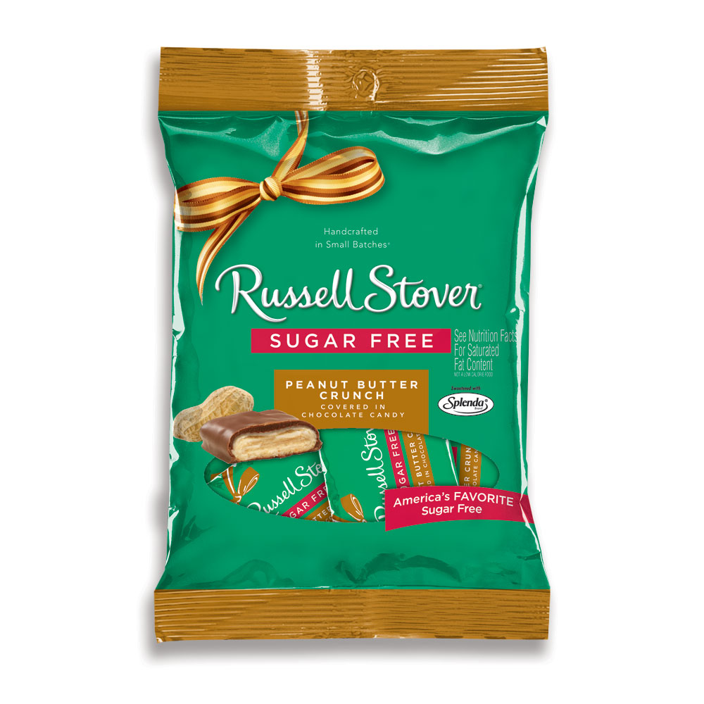 Image for Sugar Free Peanut Butter Crunch, 3 oz. Bag from RussellStover