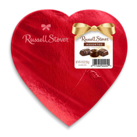 Assorted Chocolates Red Foil Heart, 4.75 oz.