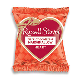 Dark Chocolate Marshmallow Heart Bar, 1 oz.
