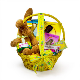 Some-Bunny Special Gift Basket (Yellow)