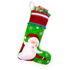 Santa Happy Holidays Stocking