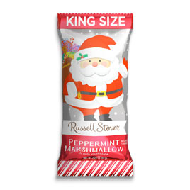 Milk Chocolate Peppermint Marshmallow Santa, 2.25 oz. Bar