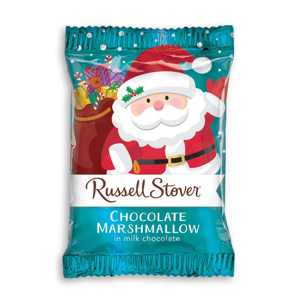 Milk Chocolate Chocolate Marshmallow Santa, 1 oz. bar