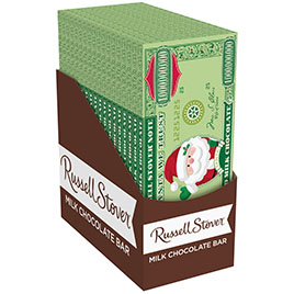 Solid Milk Chocolate Santa Money, 2 oz. Bar