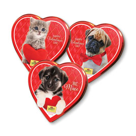 Assorted Pets Heart Tin, 9 oz.- 50% OFF Discount Applied in Cart
