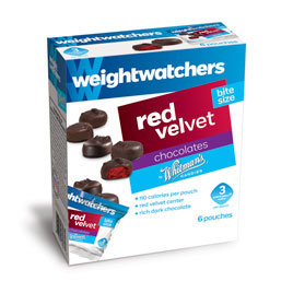 Weight Watchers® Dark Chocolate Red Velvet Bites, 5.25 oz. Box