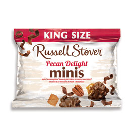 Milk Chocolate Pecan Delight King Size Minis, 1.98 oz. bag