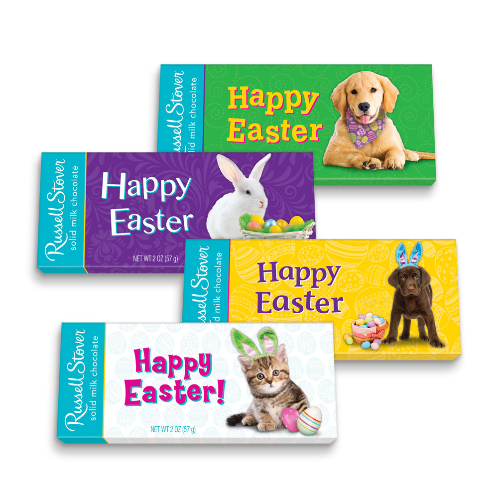 Image for Easter Pals Solid Milk Chocolate Tablet Bar, 2 oz. Bar from Russell Stover