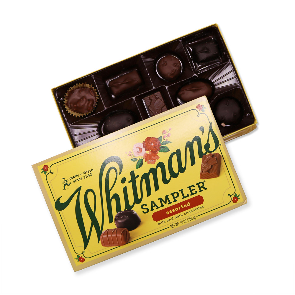 http://www.russellstover.com/ - Whitman's Sampler Assorted Chocolates, 10 Oz. | Mixed Assorted Chocolates | By Whitmans 11.11 USD