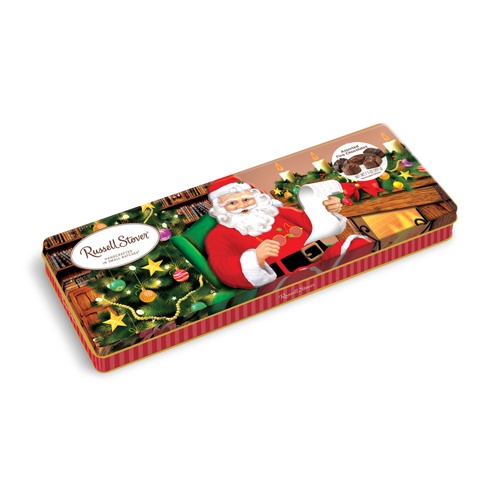 Russell Stover Chocolates coupon: Assorted Chocolates, 7.1 Oz. Santa Tin | Mixed Assorted Chocolates | By Russell Stover