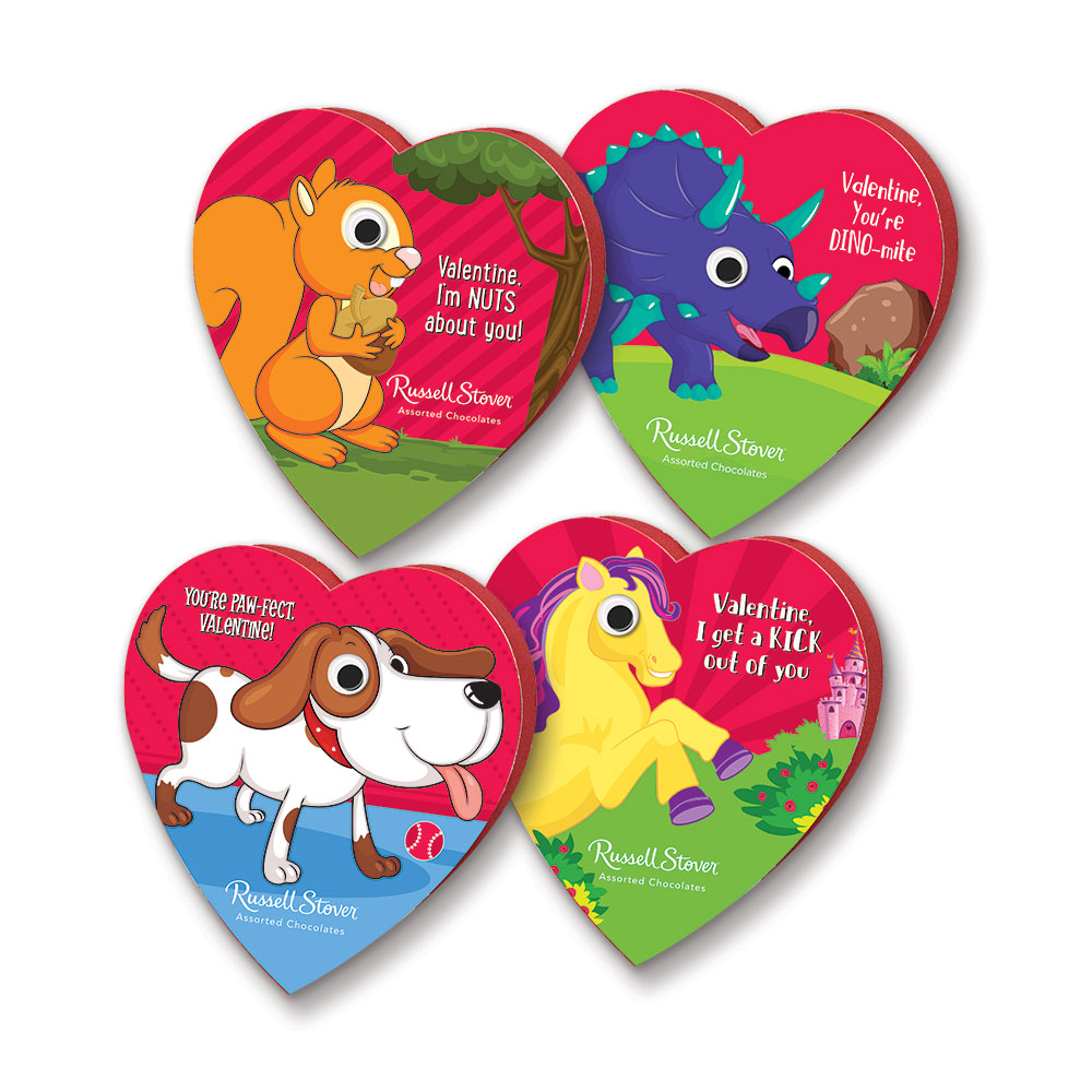 Russell Stover Chocolates coupon: Assorted Chocolates Googly Eyes Heart, 3.5 Oz. | Valentines Seasonal | By Russell Stover