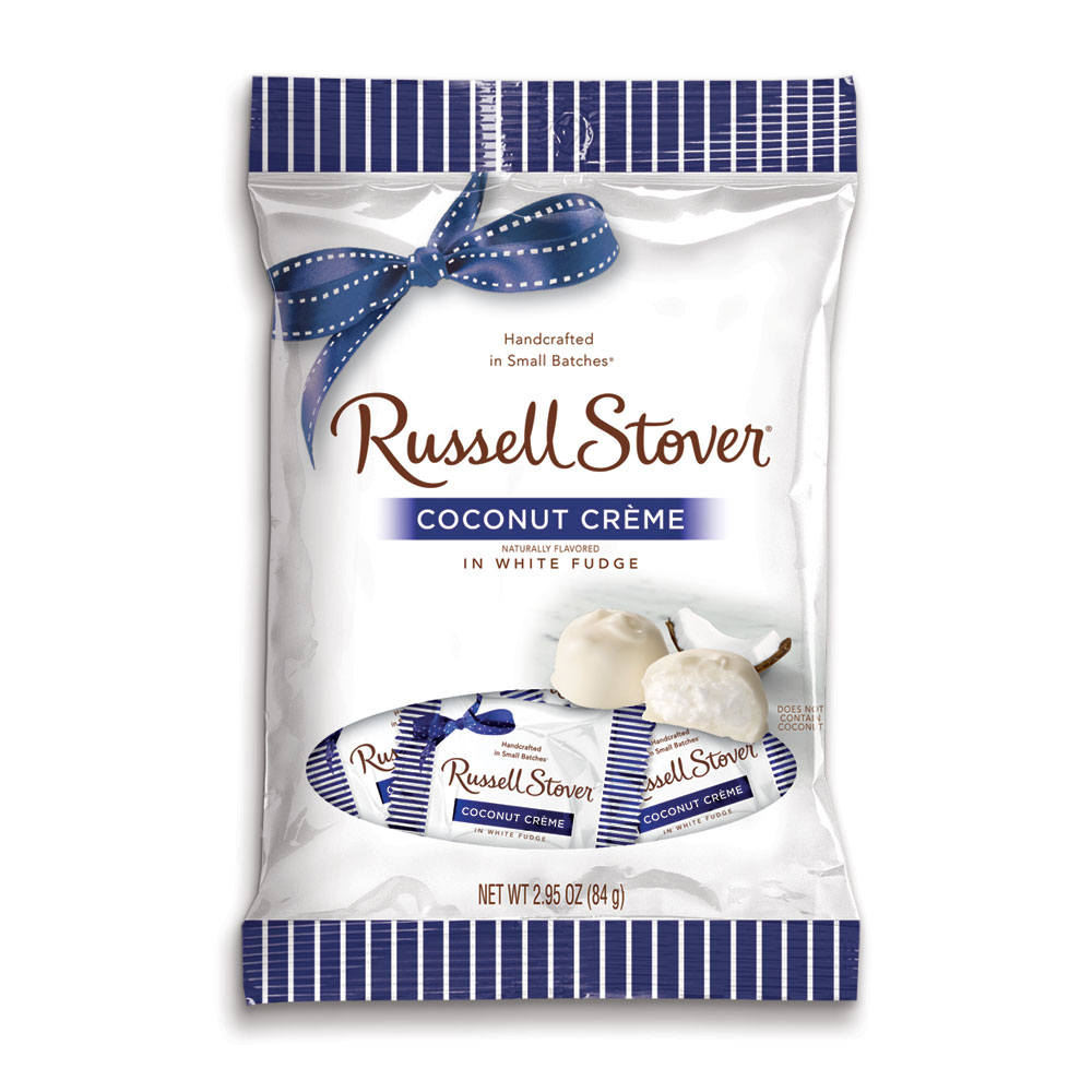http://www.russellstover.com/ - White Fudge Coconut Crème, 2.95 Oz. Bag | Chocolates | By Russell Stover 1.99 USD