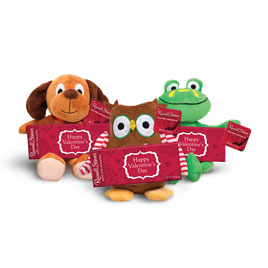 Animal & Friends Plush w/ Solid Milk Chocolate, 2 oz. Bar- 50% OFF Discount Applied in Cart
