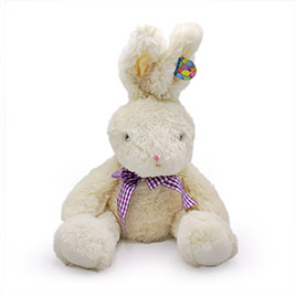 Large White Easter Rabbit Stuffed Animal -  17'